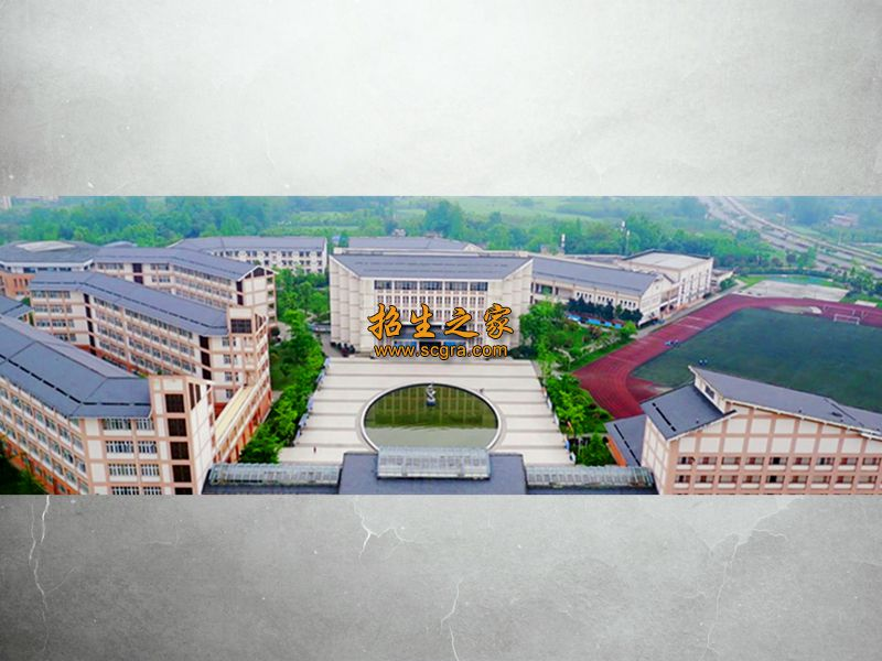 都江堰市职业中学鸟瞰图